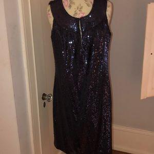 Tory Burch blue sequin dress